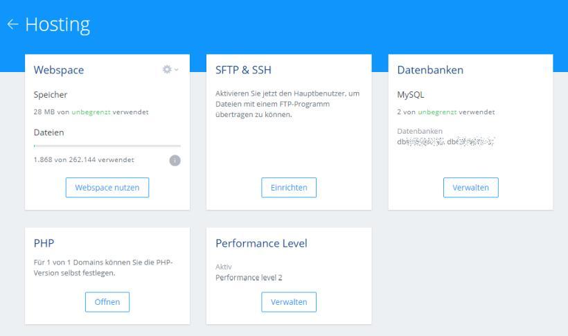1&1 Erfahrungen u. Test der Webspace-Geschwindigleit